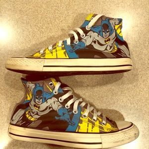 Size 8 Mens Batman Converse high top